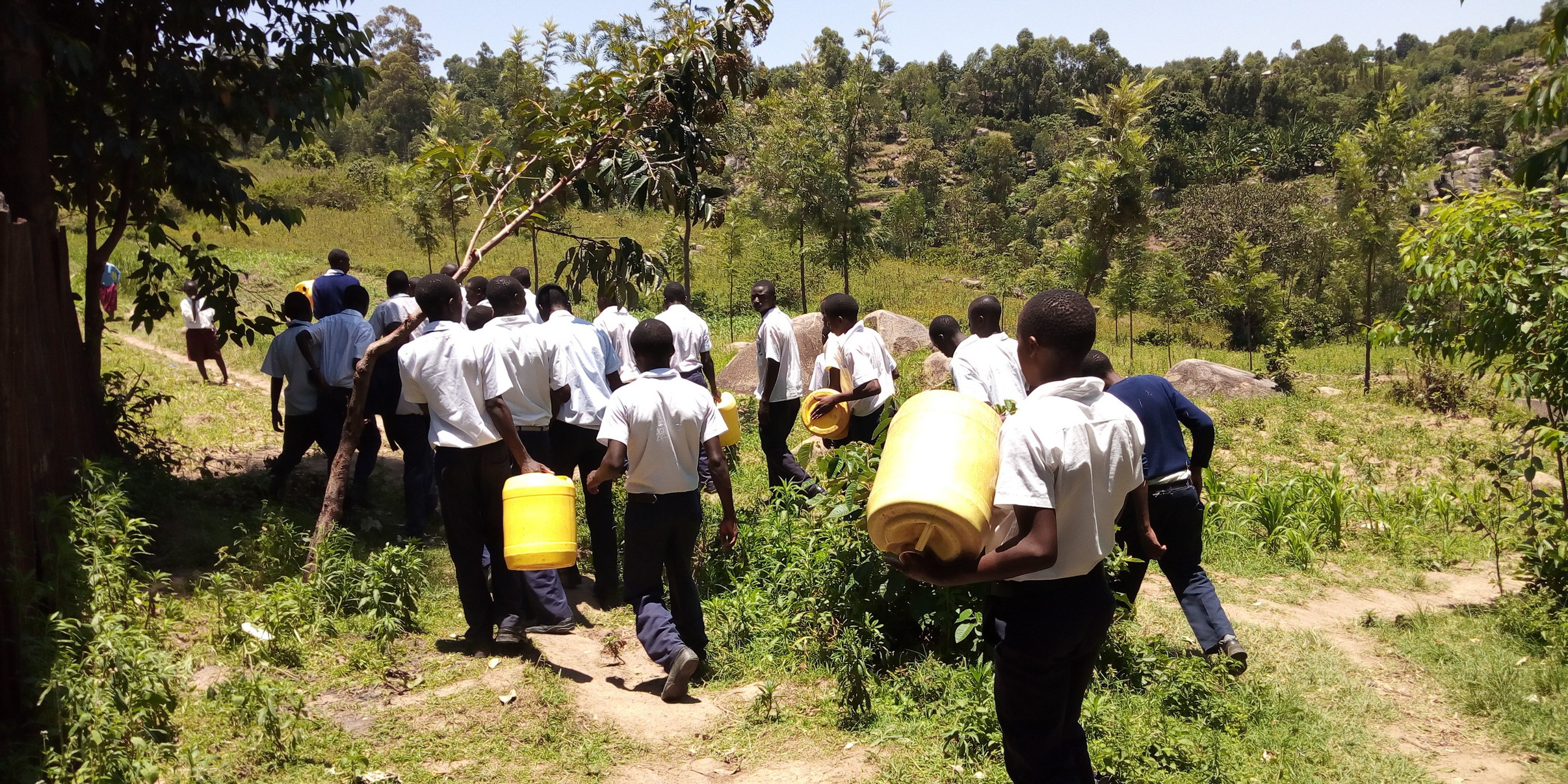 The Water Project : 9-kenya19070-going-to-get-water