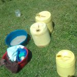 The Water Project: Lusiola Community, Ifetha Spring -  Water Containers