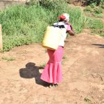 The Water Project: Kithumba Community D -  Carrying Water