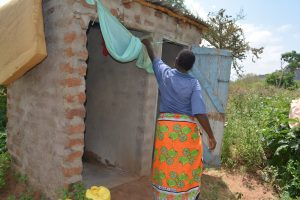 The Water Project:  Bathing Shelter And Latrines