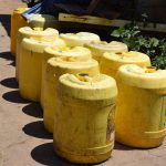 The Water Project: Kyamwao Community A -  Lineup Of Water Containers