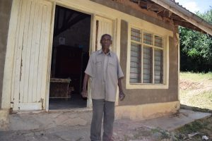 The Water Project:  Mbithi Matheka In Front Of His Home