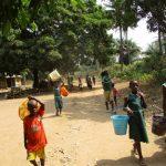 The Water Project: Lokomasama, Menika, DEC Menika Primary School -  Students Walking To Fetch Water