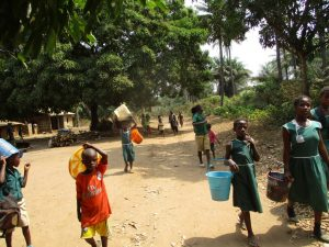The Water Project:  Students Walking To Fetch Water