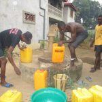 The Water Project: SLMB Primary School -  Fetching Water
