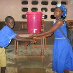 The Water Project: Mahera, SLMB Primary School -  Hand Washing Station