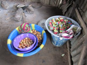 The Water Project:  Onions And Canned Goods Meant For Selling