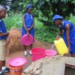 The Water Project: SLMB Primary School -  Students Fetch Water