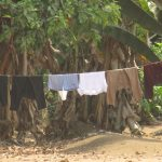 The Water Project: Lokomasama, Bompa, DEC Bompa Primary School -  Clothes Drying