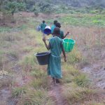The Water Project: Lokomasama, Bompa, DEC Bompa Primary School -  Students Going To Fetch Water