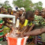 The Water Project: Lungi, Tonkoya Village -  Children Celebrating