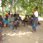The Water Project: Lungi, Tonkoya Village -  Hygiene Facilitator Training Community Members About Hygiene