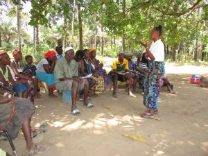 The Water Project:  Hygiene Facilitator Training Community Members About Hygiene