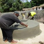 The Water Project: Lungi, Tonkoya Village -  Pad Construction