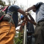 The Water Project: Lungi, Tonkoya Village -  Pump Installation