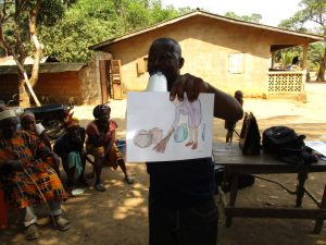 The Water Project:  Visual Tool Used During Hygiene Training