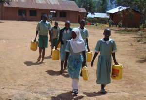 The Water Project:  Students Leaving To Fetch Water