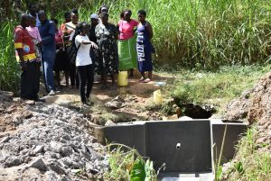 The Water Project:  Training On Spring Maintenance