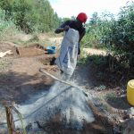 The Water Project: Sambuli Community, Nechesa Spring -  Mixing Cement