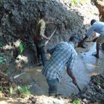 The Water Project: Kambiri Community, Sachita Spring -  Excavation