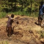 The Water Project: Mukoko Community, Mshimuli Spring -  Excavating The Spring