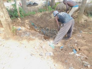 The Water Project:  Digging Latrine Pit