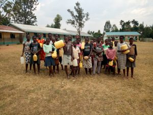 The Water Project:  Students Who Helped Get Water For Construction