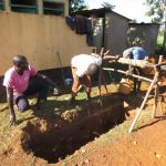 The Water Project: Ingwe Primary School -  Digging A Latrine Pit