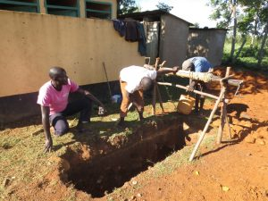 The Water Project:  Digging A Latrine Pit
