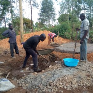 The Water Project:  Construction For Latrine Foundation