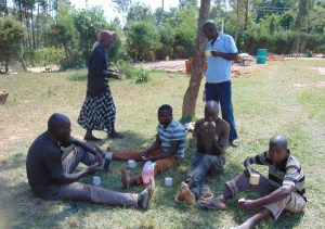 The Water Project:  Artisans Sharing A Meal Provided By The School
