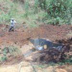 The Water Project: Ibinzo Community, Lucia Spring -  Spring Construction
