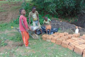 The Water Project:  Delivering Bricks To The Site