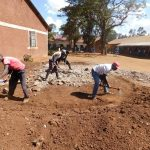 The Water Project: Sango Primary School -  Tank Foundation Construction