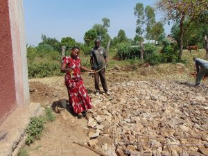 The Water Project:  Measuring The Tank Foundation