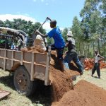 The Water Project: Kapkemich Primary School -  Delivering Sand
