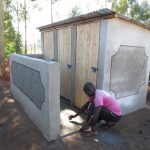 The Water Project: Ingwe Primary School -  Finishing Touches On Latrines