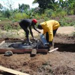 The Water Project: Sambuli Community, Nechesa Spring -  Sanitation Platform Construction