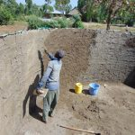 The Water Project: Lwakhupa Mixed Secondary School -  Plastering The Tank Wall