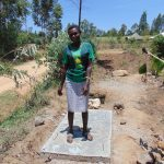 The Water Project: Sambuli Community, Nechesa Spring -  Finished Sanitation Platform