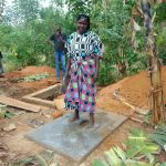The Water Project: Ibinzo Community, Lucia Spring -  Finished Sanitation Platform