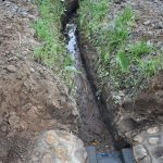 The Water Project: Emukoyani Community, Ombalasi Spring -  Drainage The Community Dug
