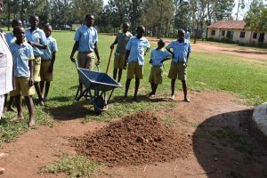 The Water Project:  Students Helping The Team Remake The Catchment Area