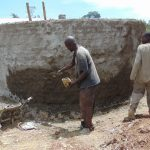 The Water Project: Lwakhupa Mixed Secondary School -  Plastering The Outside