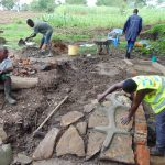 The Water Project: Kambiri Community, Sachita Spring -  Construction