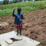 The Water Project: Kambiri Community, Sachita Spring -  Sanitation Platform