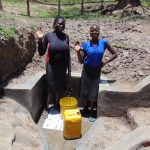 The Water Project: Sambuli Community, Nechesa Spring -  Flowing Water