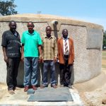 The Water Project: Ingwe Primary School -  School Staff At The Finished Tank