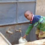 The Water Project: Kigulienyi Primary School -  Flowing Water