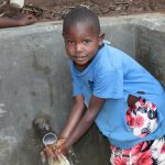 The Water Project: Kambiri Community, Sachita Spring -  Flowing Water